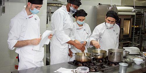 alumnado del Certificado de Profesionalidad de Cocina