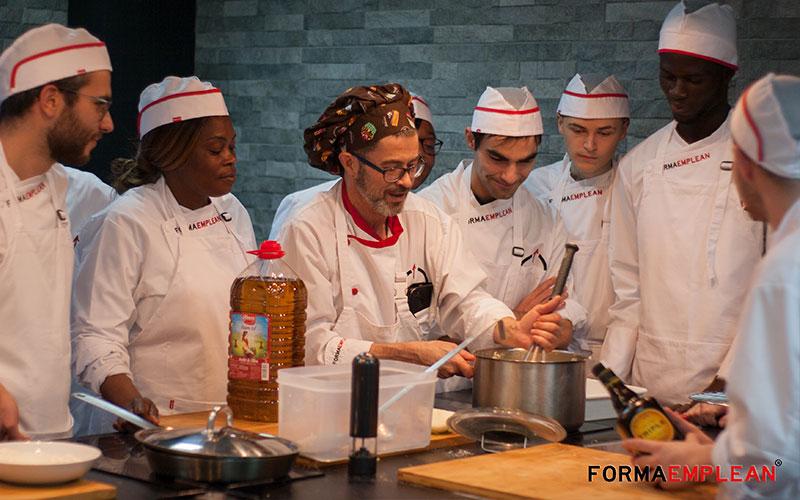 alumnado del certificado de profesionalidad de operaciones básicas de cocina