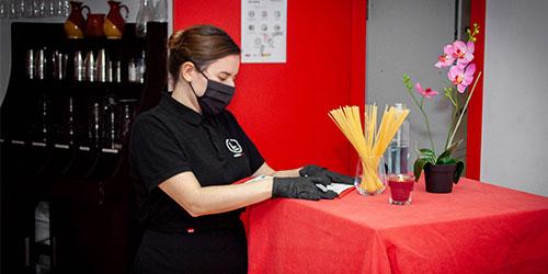 alumnado del Certificado de Profesionalidad de Servicios de Restaurante